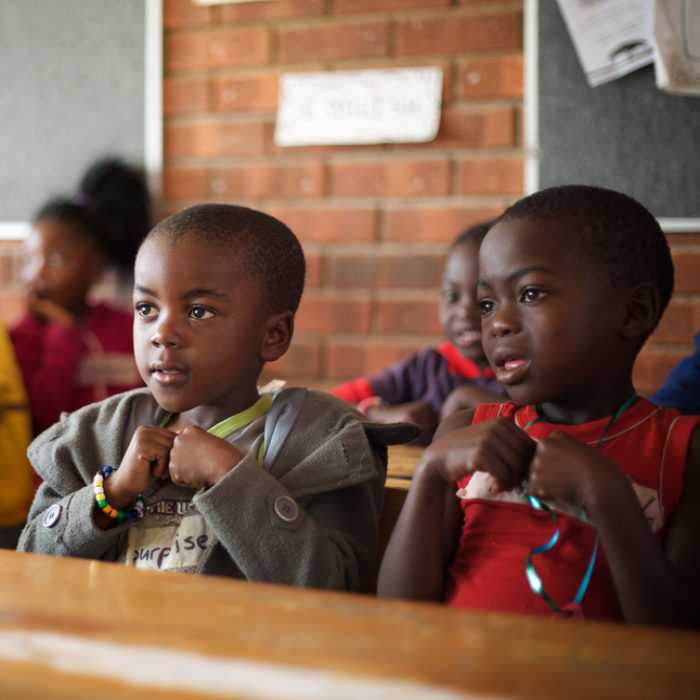 young children in school